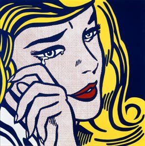 Рой Лихтенштейн Плачущая девушка-1964 поп-арт